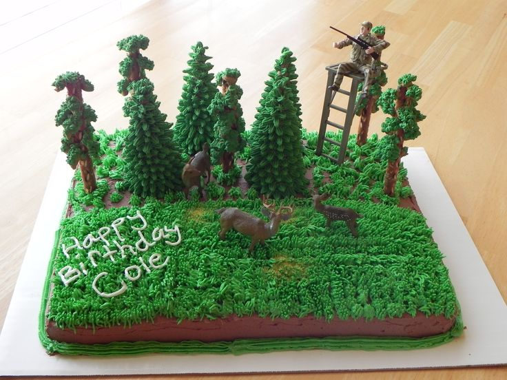 Deer Hunting cake I did for a friend.; Here's a deer stand you can handle! kn
