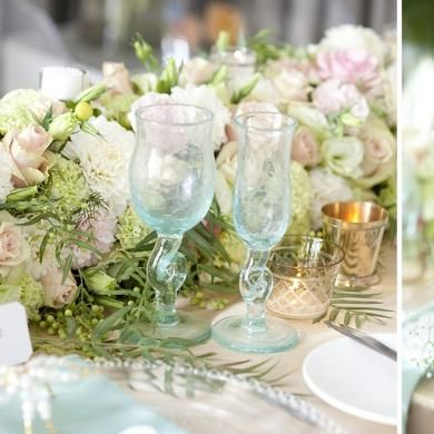 Touched by Angels reception styling. Soft, ever-so-pretty and fresh!