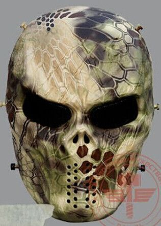 9 Style Original Typhon Ghost Camouflage Tactical Outdoor Military Game Paintball Balaclava Airsoft Skull Full Face Protect Mask