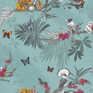 1000 ideas about teal wallpaper on pinterest wallpaper - Butterfly wallpaper homebase ...
