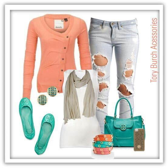 Loove this coral tosca combination