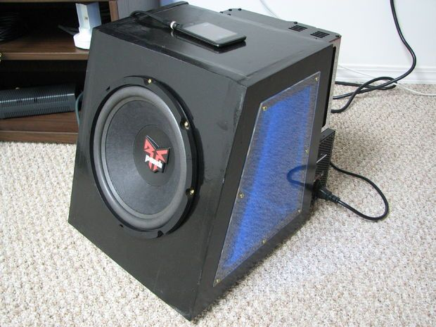 Converted Car Subwoofer for In-Home use with iPod/Home Entertainment PC