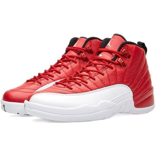 Nike Jordan Men's Air Jordan 12 Retro Basketball Shoe ($300) ❤ liked on Polyvore featuring men's fashion, men's shoes, men's athletic shoes, mens wide width shoes, mens wide athletic shoes, mens wide shoes, mens basketball shoes and mens wide fit shoes