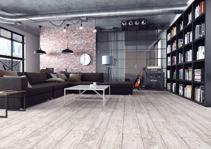 Izgalmas szürkés fehér erezett laminált padló körbe fózolva