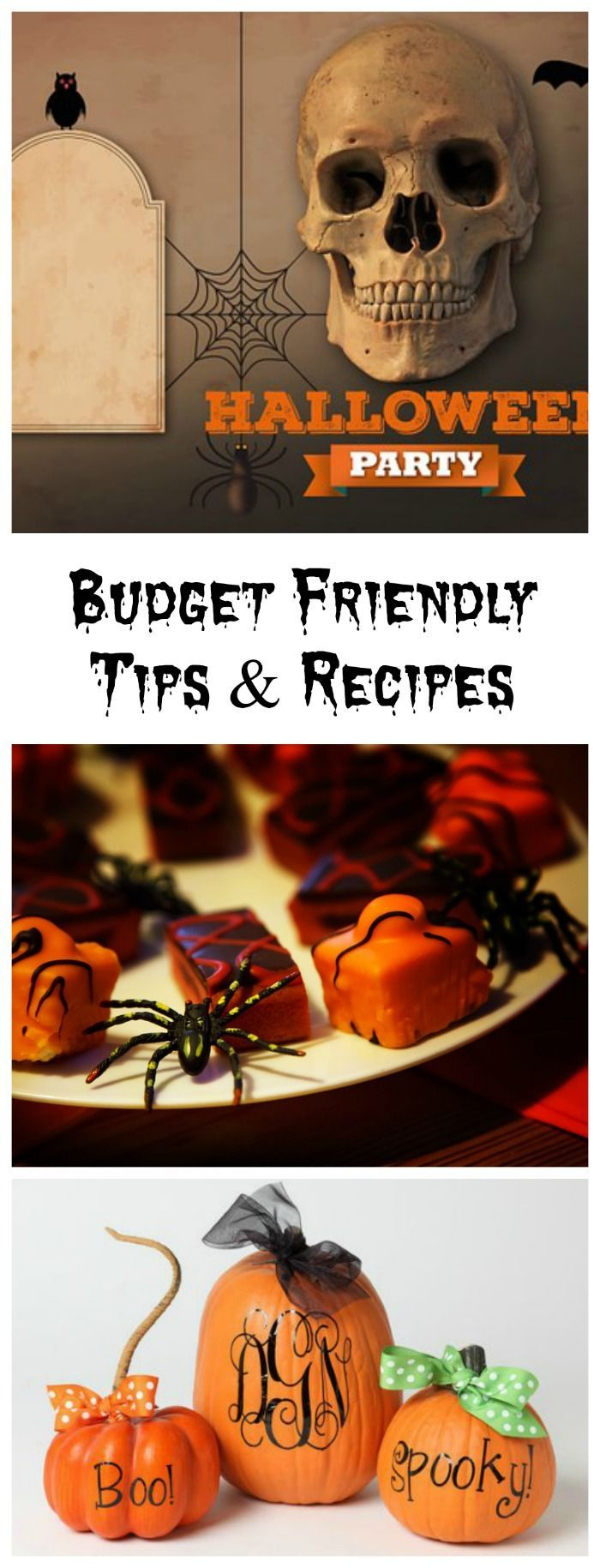 These budget friendly Halloween party tips and recipes will help to make your party one that won't break the bank. #halloweenparty #budgetpartytips