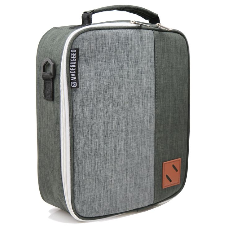 MADE RUGGED Insulated Lunch Bag For Men & Diet Management, Freezer Safe & Collapsible Cooler Lunch Box