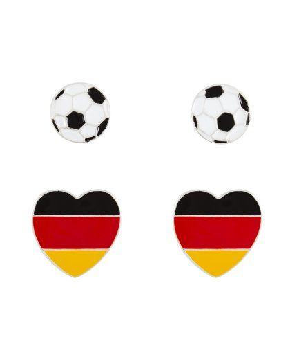 """Tolle Fanartikel zur Fußball-WM 2014, wie """"SIX """"WM 2014"""" 2er Set Ohrstecker, Fußball & Herz mit deutscher Flagge (398-039)"""" hier erhältlich: http://fussball-fanartikel.einfach-kaufen.net/schmuck-peruecken/six-wm-2014-2er-set-ohrstecker-fussball-herz-mit-deutscher-flagge-398-039/"""