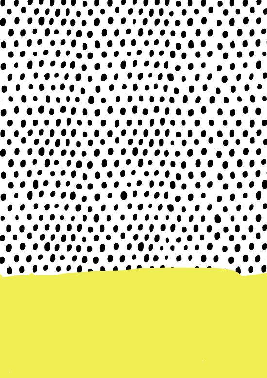 pattern | polka dot rain dip art print