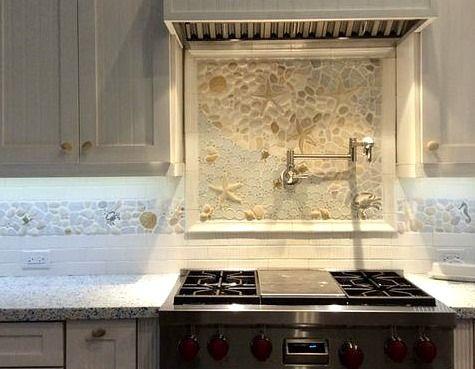 71 best images about coastal tile on pinterest mosaics for Nautical kitchen backsplash