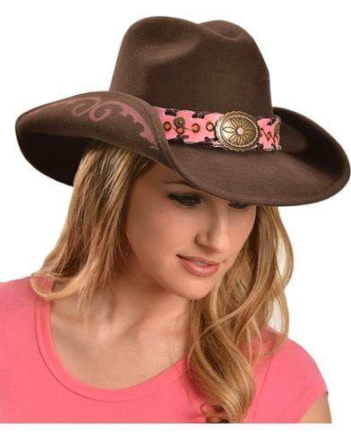 Bullhide Women's Annie Oakley Wool Hat, Chocolate
