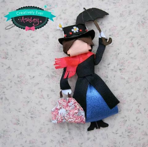 Mary poppins ribbon sculpture bow