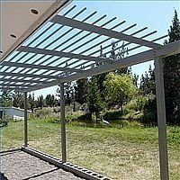 Arbor attached to house eaves