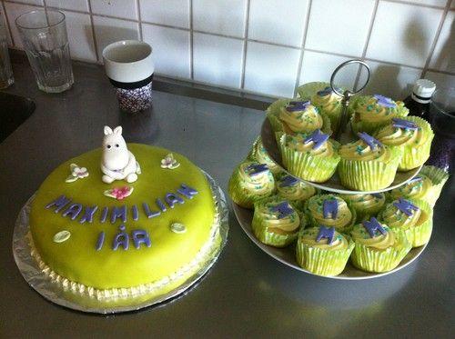 Moomin cake and cupcakes Mumin tårta - emmabakad.blogg.se
