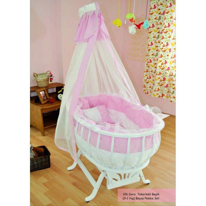 Dora Pembe Kız Bebek Beşiği