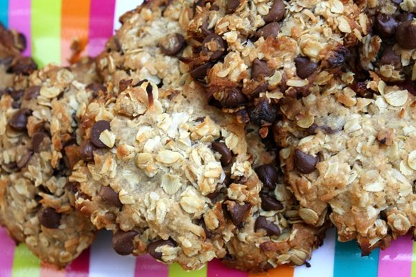 """Yoga Cookies from Chloe's Kitchen.  I call them """"granola"""" cookies, instead, but these are crazy good and healthy.  Remind me of homemade granola bars.  Vegan, gluten-free, sugar-free.  Chef Chloe Coscarelli is wonderful."""