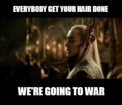 lord of the hair  elf logic  all hail His Hairness  the pun list is as long and beautiful as an elf's hair  why use weapons when you can whip someone in the face with your freakishly long and glorious hair?