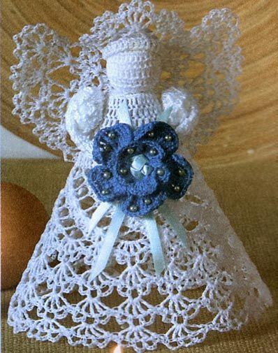 Beautiful+ideas+crochet | Christmas craft ideas: crocheted angle patterns