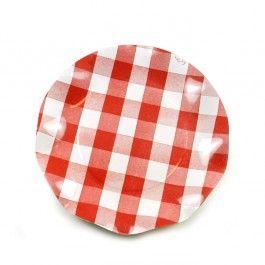 Assiette carton vichy rouge, achat/vente vaisselle jetable 3,90€ les 10