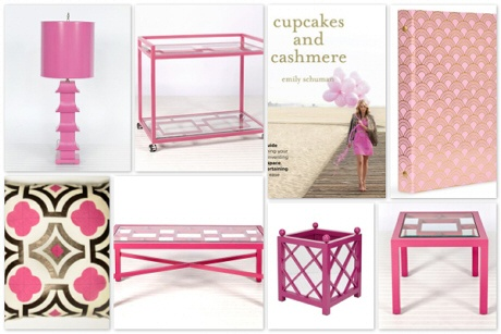 Shop For the Cure!  Please, check out our sale to raise support for the Moffitt Cancer Center Foundation.  Pictured above (left to right), our Pagoda Table Lamp and Hampton Bar Cart from Worlds Away, Emily Schuman's Cupcakes and Cashmere, Mini-Binder (Russell+Hazel), Quatrefoil Throw Pillow, Winter Harbor Coffee Table, Largo Mirrored Planter, and Sag Harbor Side Table.  #ShopForTheCure #DecorateAndDonate #BreastCancer #Pink #Moffitt