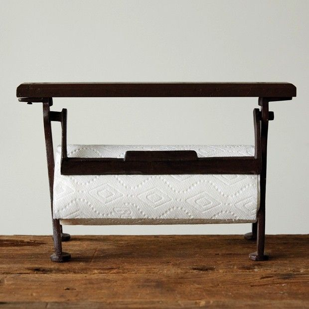 Cast Iron Counter Top Paper Towel Holder