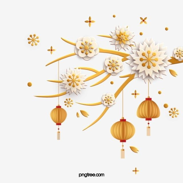 Chinese New Year Festival Three Dimensional Golden Plum Lantern China Festival Year Png Transparent Clipart Image And Psd File For Free Download Reds Poster Lanterns Decorative Font