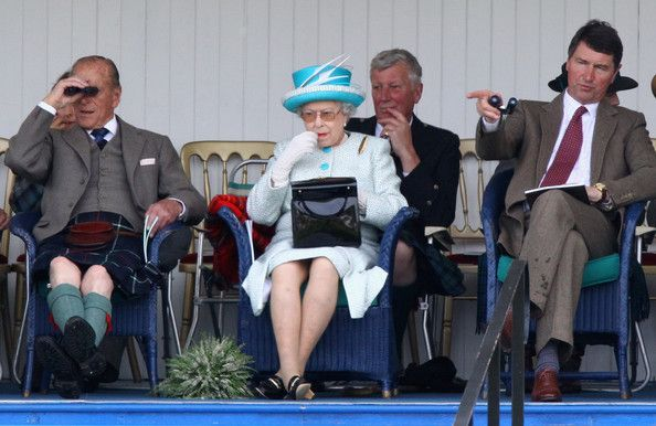 Timothy Laurence Photos - (L-R) Prince Philip, Duke of Edinburgh, Queen Elizabeth II and Sir Timothy Laurence attend the Braemar Gathering with Prime Minister David Cameron and his wife Samantha e Braemar Highland Games at The Princess Royal and Duke of Fife Memorial Park on September 3, 2011 in Braemar, Scotland. The Braemar Gathering is the most famous of the Highland Games and is known worldwide. Each year thousands of visitors descend on this small Scottish village on the first Saturday…