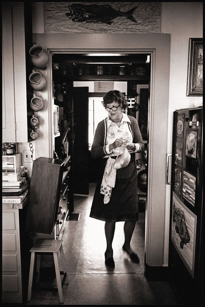 Julia Childs in her home kitchen   Flickr - Photo Sharing!