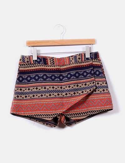 Falda pantalón estampado étnico Capsule