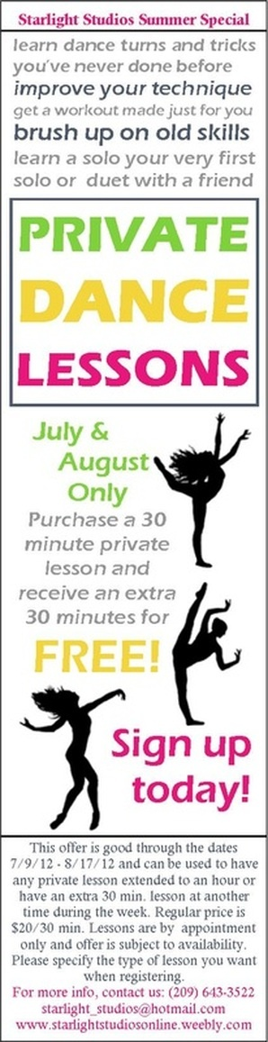 Starlight Studios Summer 2012 Coupon 50 Private Dance Lessons Classes LondonBallroom