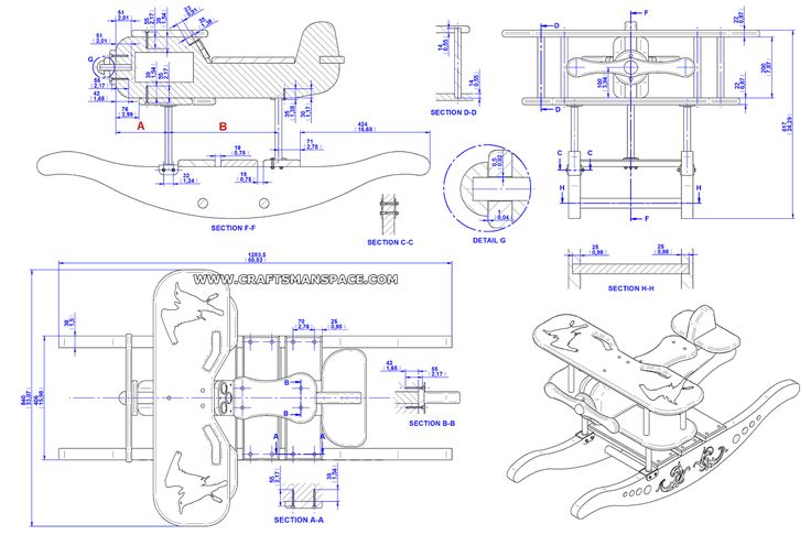 Wooden Rocking Airplane Plans - WoodWorking Projects & Plans