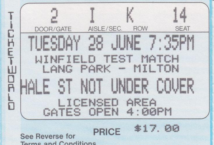 Australia vs Great Britain, Lang Park, Brisbane, 1988.