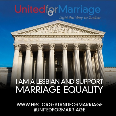 I support marriage equality. www.hrc.org/standformarriage