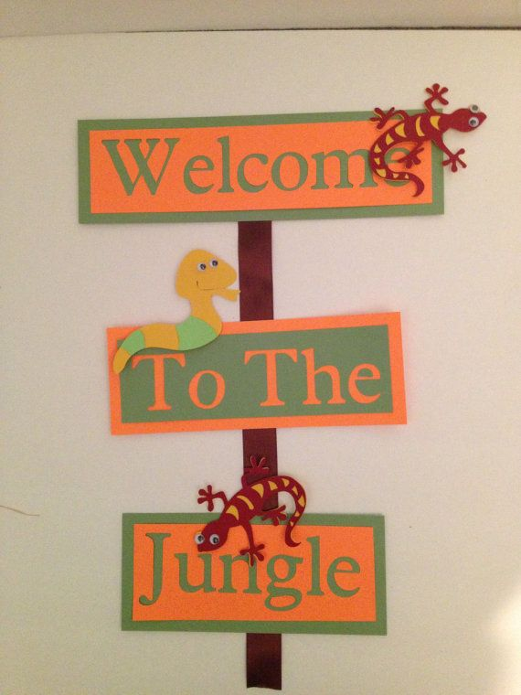 Welcome to the Jungle Party sign by NottsAndBows on Etsy, $10.00