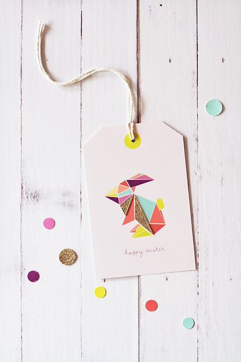 free printable Easter gift tag via Eat Drink Chic