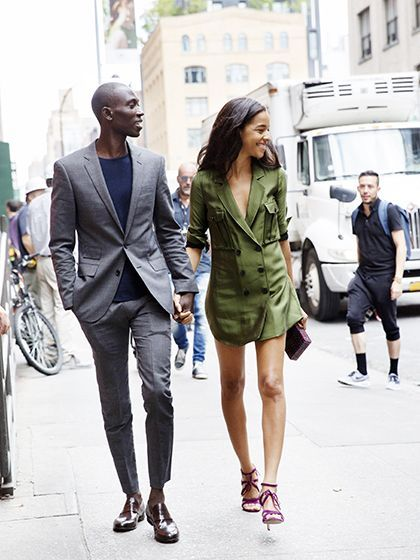 The Best Beauty Street Style From NYFW Spring 2016: Armando Cabral and Krystal Wilson | allure.com