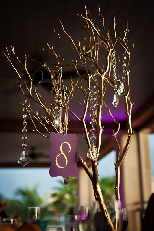 wedding branch centerpiece | Our centerpieces : wedding centerpieces manzanita branches 1 purple ...