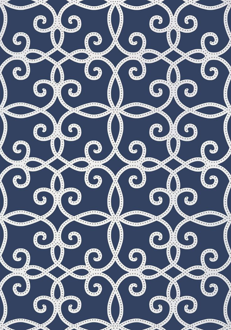 KENDALL, Navy, T11070, Collection Geometric Resource 2 from Thibaut #joecornfields #blue