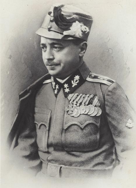 Future Austrian Chancellor Engelbert Dollfuß in the uniform of a Kaiserschützen Oberleutnant.  from Glenn J.