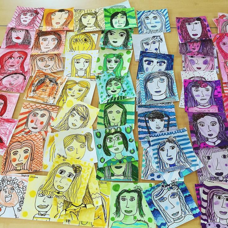 Love all these little faces ready for a whole school display.