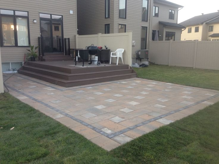 This Interlock Patio Built By Newfound Land Fence Decks It S A Nice