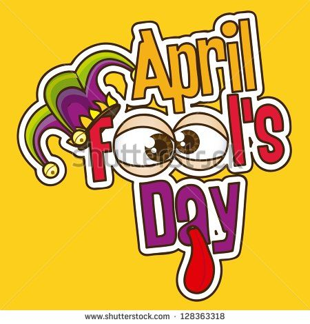Illustration of April Fools Day. Jester icons. vector illustration - stock vector