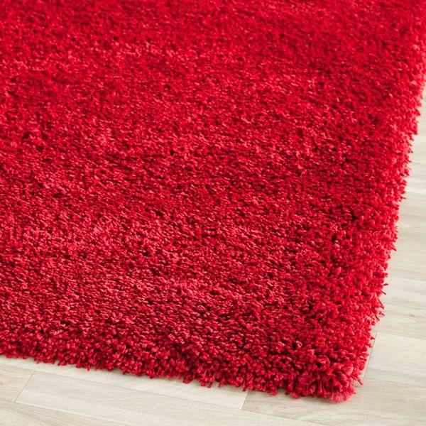 Safavieh California Cozy Plush Red Shag Rug 86 X 12 By Rote TeppicheShag