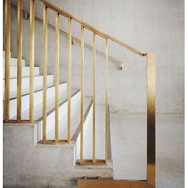 Brass Stair Rail #brasstrend #ihaveathingforstaircases #interiorinspo  #stairgoals