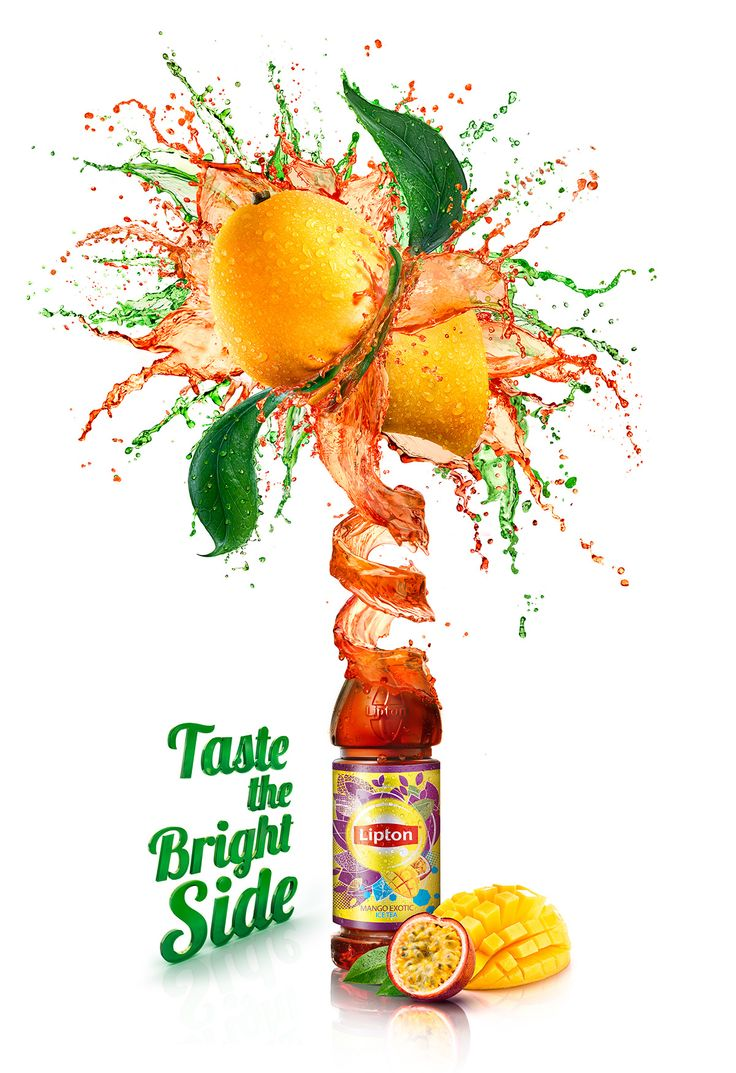 Lipton squeezed fruits on Behance