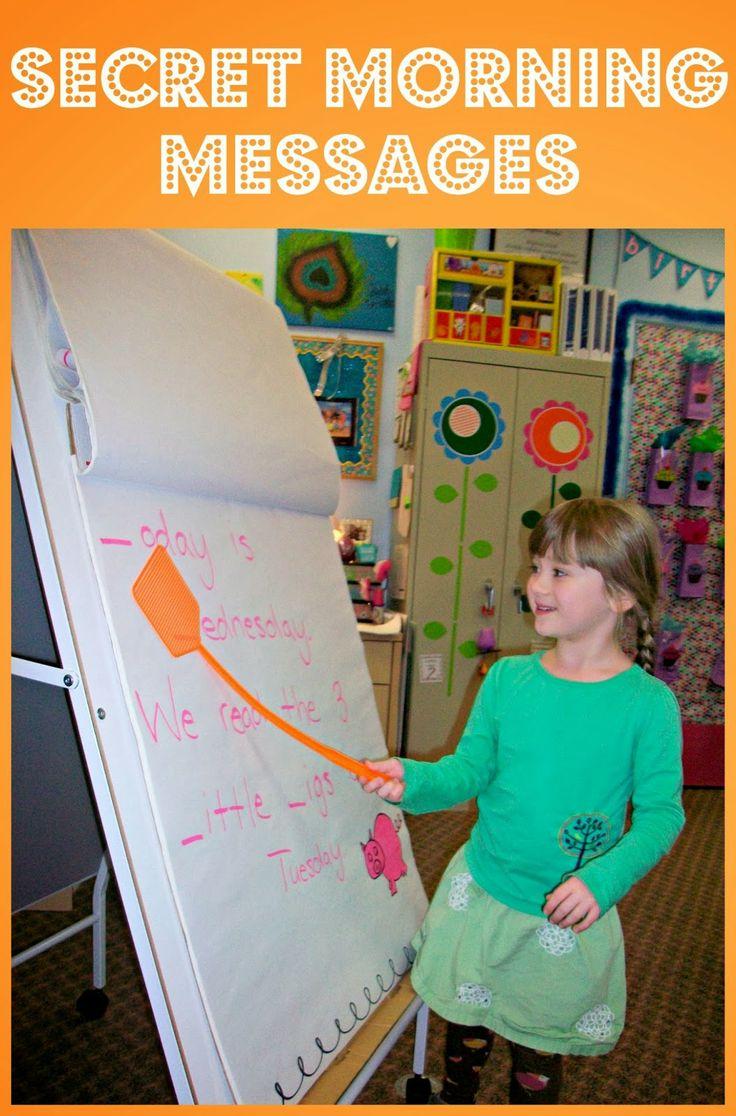 Secret Morning Messages-Kindergarten morning work process works on reading, writing, and phonological awareness.