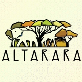 elephant & giraffe africa logo (avail for purchase too!)