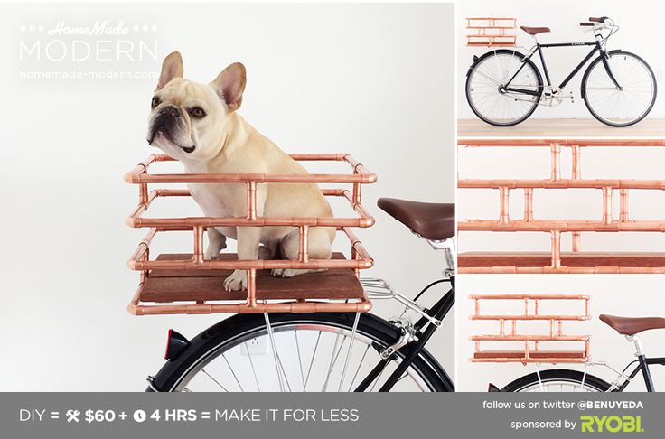 Un cestino per bici, ma in rame...