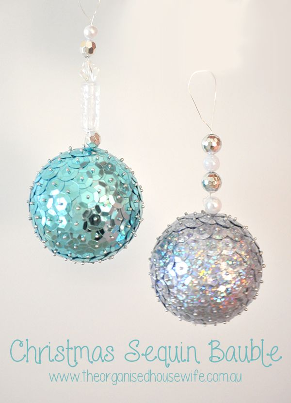 Christmas Sequin Bauble Girls Housewife And Organised