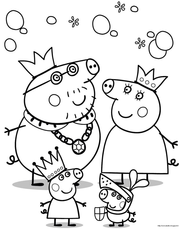 109 best peppa pig images on pinterest | pigs, pig party and ... - Peppa Pig Coloring Pages Print