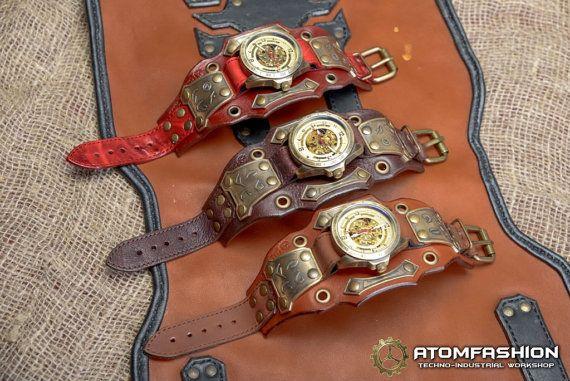 Reloj steampunk de los hombres 'Pulso de la por Atomfashion en Etsy